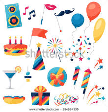 party stuff cool party stuff icon pack higher stock vektor 121103074