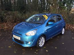 mitsubishi mirage hatchback used mitsubishi mirage 3 blue 1 2 hatchback bridgend