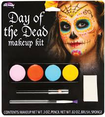 mexican halloween makeup day of the dead spanish mexican sugar skull face makeup kit set