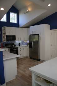 kitchen kitchen in blue and white theme design featured stylish