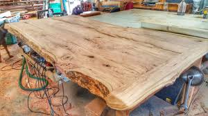 How To Make A Tree Stump End Table by Making A Cherry Wood Table From A Log Youtube