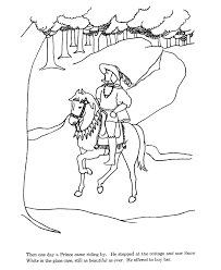snow white prince coloring pages coloring