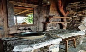 bath vanity bench rustic cabin bathroom design cabin rustic baths