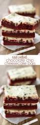 red velvet chocolate chip cheesecake bars recipe red velvet