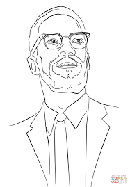 malcolm x coloring page free printable coloring pages