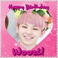 K He In Pink Happy Birthday Woozi K Pop Amino