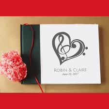 custom musical wedding guest book guest book for music themed