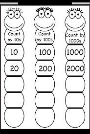 skip counting by 10 100 and 1000 free printable worksheets