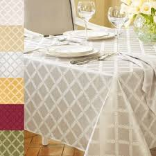 lenox laurel leaf lattice cotton blend tablecloth free shipping