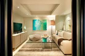 narrow living room layout minimalist furniture long living cream
