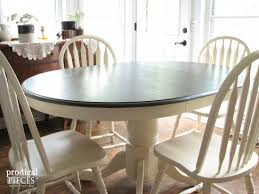 farmhouse table makeover with homeright sprayer prodigal pieces