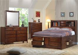 Bedroom Furniture Photos by Amazon Com Coaster Queen Size Bookcase Chest Bed In Brown Finish