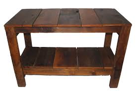 reclaimed wood plank table