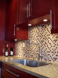 color theme idea for kitchen dark cherry wood cabinets with a