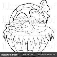 easter basket clipart 1382868 illustration by visekart