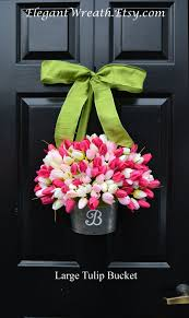 tulip wreath monogram tulip wreath xl tulip door wreath