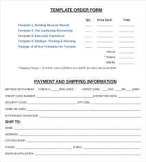 simple order form work free order simple order form template word