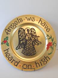 gold charger decorated christmas plates google search plate