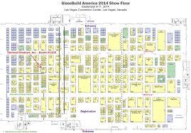 las vegas convention center floor plan glassbuild america 2014 thermal windows inc