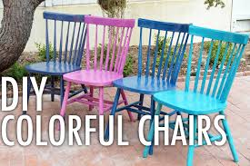 Teal Colored Chairs by Diy Colorful Chairs With Mr Kate Youtube
