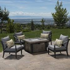 Fire Patio Table by Fire Pit Table Sets You U0027ll Love Wayfair