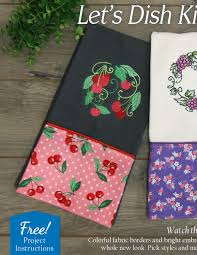 machine embroidery designs for kitchen towels embroidery library let u0027s dish lookbook delicious dishes machine