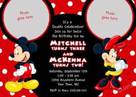 mickey and minnie invitations template resume builder
