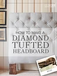 Diamond Tuck Interior How To Make A Diamond Tufted Headboard