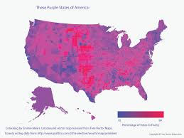 Election 2016 Map by These Purple States Of America U2013 Emmie Mears