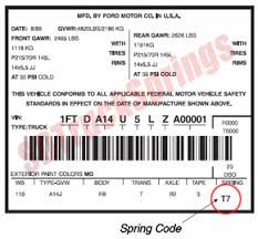 ford f150 transmission identification codes ford codes shop ford leaf springs by code sd truck