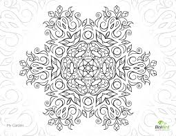 my garden mandala free printable coloring pages