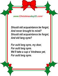 printable lyrics christmas carols lyrics christmas day 25