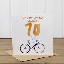 personalised bike 70th birthday card by yellowstone art boutique