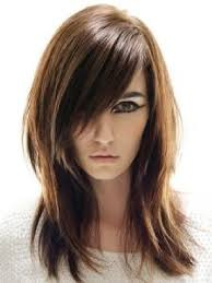 medium length hairstyles with long bangs 1000 images about feather