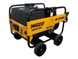 winco portable generator wl12000he 12 kw 22 hours wheel kit