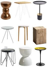 bout de canapé m bout de canap design table chevet moderne m tal objectal 10 noir