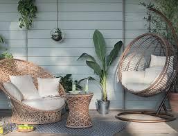 salon de veranda en osier salon de jardin design nature ou coloré les nouveautés 2016