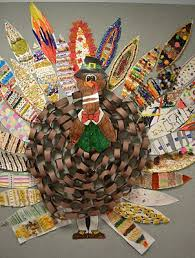 how to make turkey feathers what a neat turkey made out of a paper chain each student makes