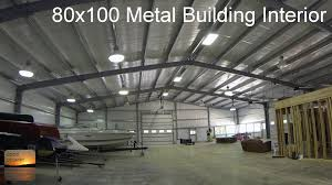 metal building house plans 80x100 metal building update interior tour youtube