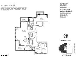 Absolute Towers Floor Plans by 56 Leonard Street Tribeca Manhattan Scout