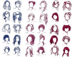 i really wanted to draw some hair styles by solstice 11 on deviantart