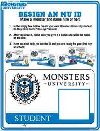 create monsters university id making