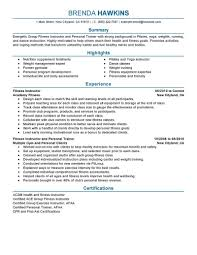personal trainer resume best fitness and personal trainer resume exle livecareer