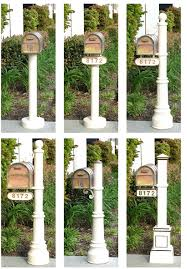 Wall Mount Locking Mailbox Home Depot Residential Mailboxes And Wooden Posts Custom Mail Boxes