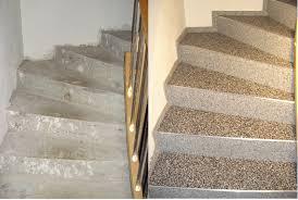 steinteppich verlegen treppe steinteppich für den innenbereich treppen und bad
