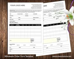 Wholesale Price Sheet Template Order Form And Price Sheet On One Page Wholesale By Aiwsolutions