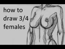 new how to draw females 3 4 view youtube