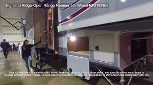 Open Range Fifth Wheel Floor Plans by Highland Ridge Open Range Roamer 5th Wheel Rf376fbh Youtube