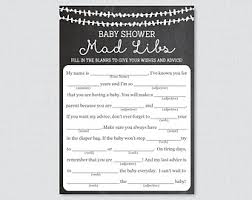 baby mad libs jar baby shower mad libs printable baby advice cards