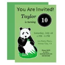 panda birthday invitations u0026 announcements zazzle canada